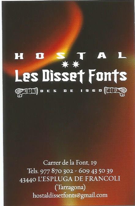 Restaurant Les Disset Fonts